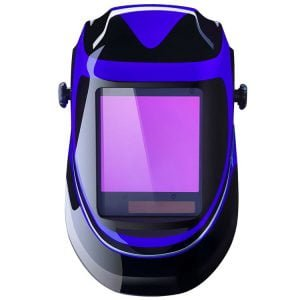 Solar Powered Welding Helmet Auto Darkening Professional Hood with Wide Lens Adjustable Shade Range