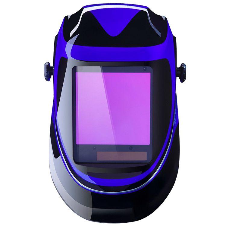 Solar Powered Welding Helmet Auto Darkening Professional Hood with Wide Lens Adjustable Shade Range