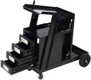Goplus Welder Cart, MIG TIG ARC Welding Plasma Cutter Tank Storage